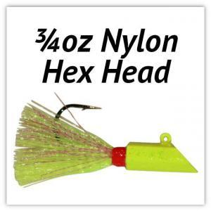 3/4oz Nylon Hex Head