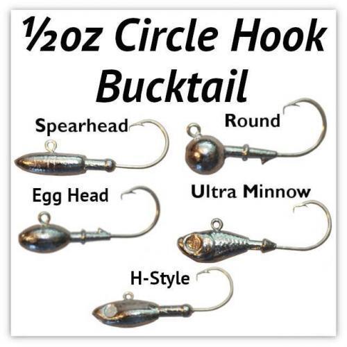 1/2oz Circle Hook Heads