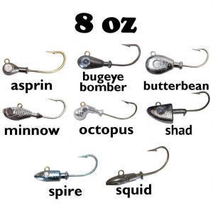 8oz Large Saltwater Jig Heads