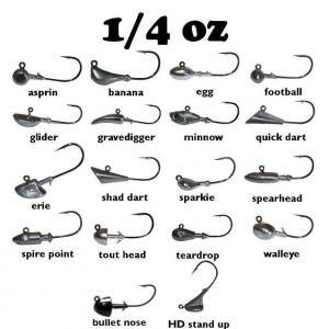 ¼oz Ultra Point Jig Heads